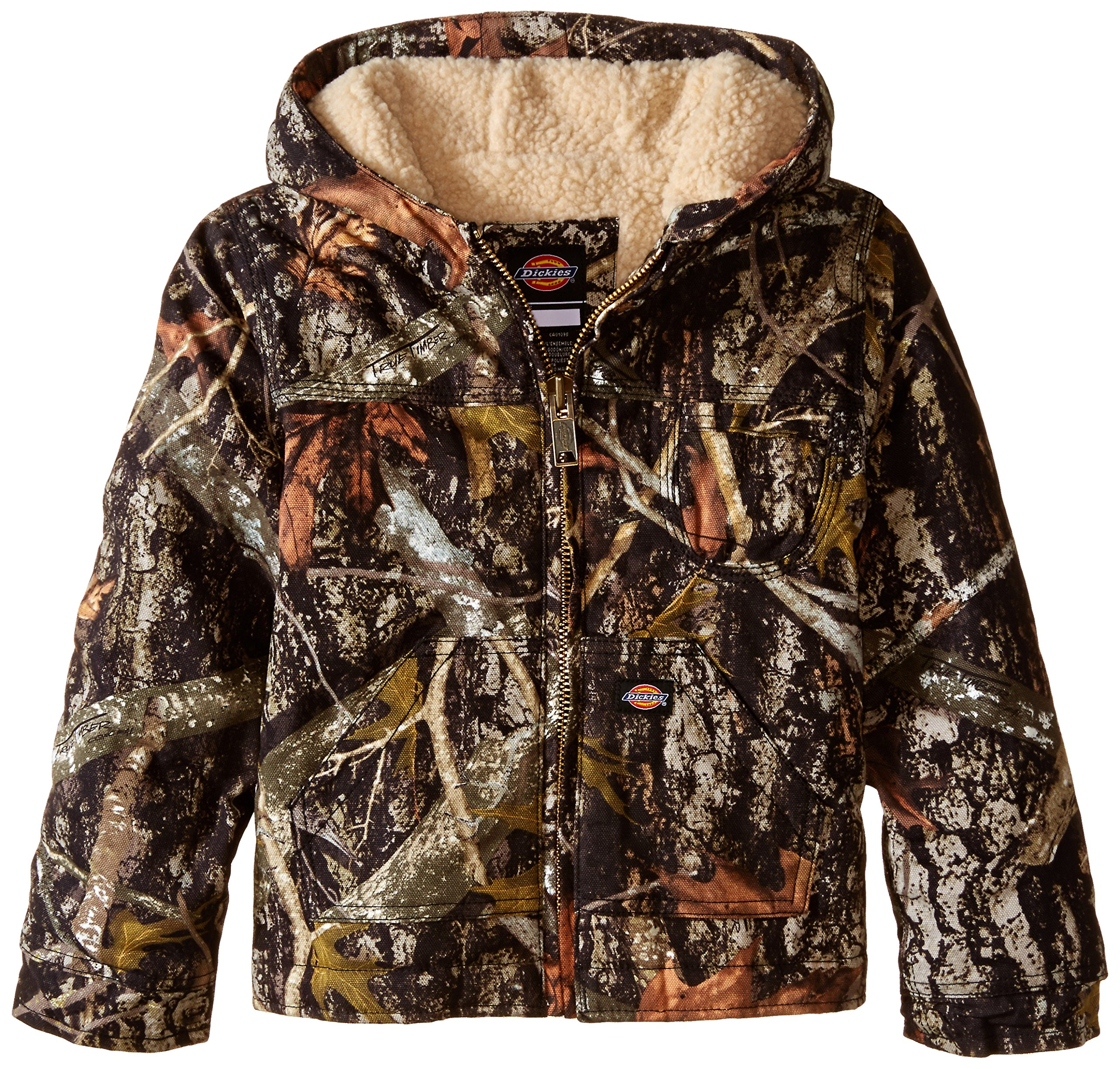 Dickies Little Boys' Sherpa Lined Duck Jacket, Camo New Conceal, Large (7)