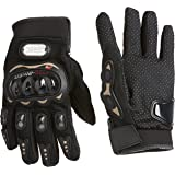 Probiker Leather Motorcycle Gloves (Black, XL)