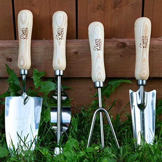 Amazon.com: Cates Garden Tool Set 4 Piezas Acero Inoxidable ...