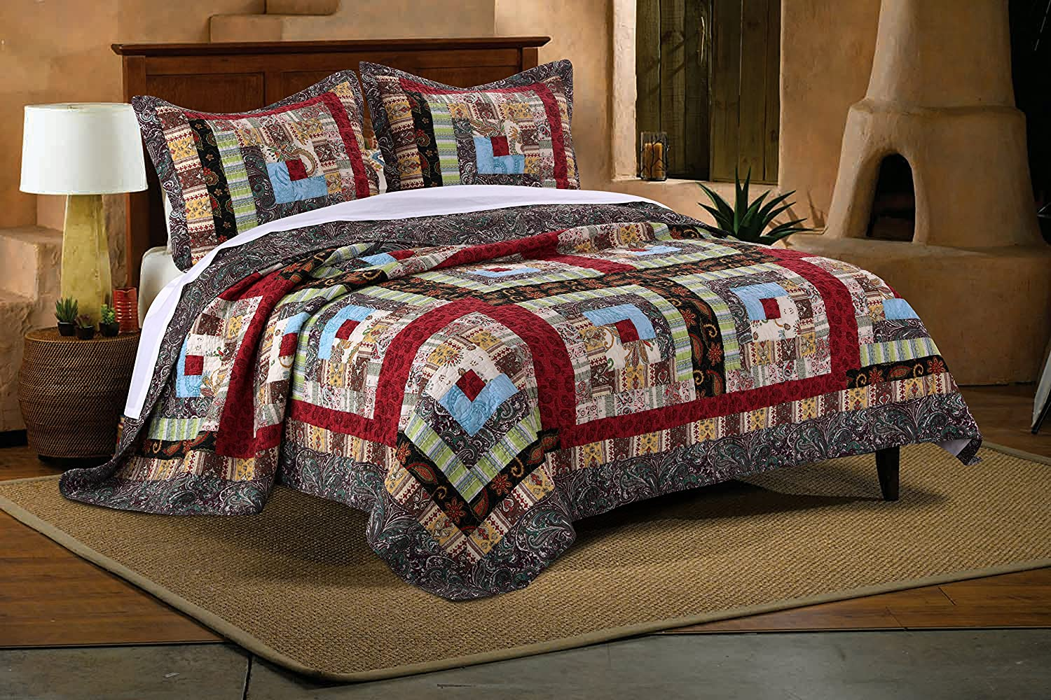 Greenland Home Colorado Lodge Quilt Set, 2-Piece Twin/Twin XL