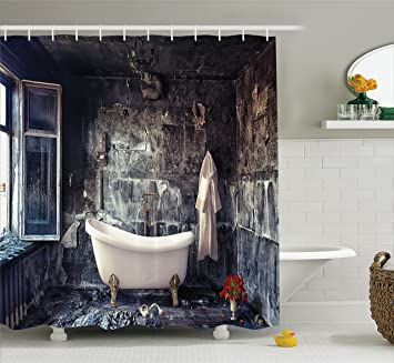 Victorian Shower Curtain Antique Decor By Ambesonne Bathtub In Old Room Bathroom Fresh Flower Bouquet