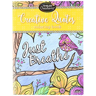 Cra-Z-Art Timeless Creations Adult Coloring Books: Creative Quotes Coloring Book (16271-6): Office Products