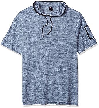 Amazon.com: Southpole Men's Big and Tall Short Sleeve Slub Hooded ...