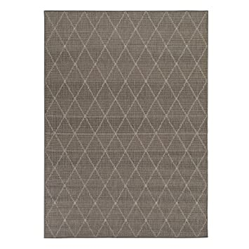 ottomanson jardin collection trellis design jute backing area synthetic sisal rug