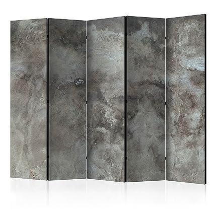 murando Biombo Concreto Hormigon 225x172 cm de impresión Unilateral en el Lienzo de TNT 100%