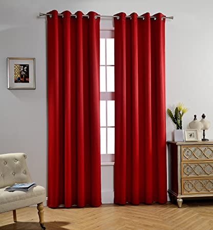 blackout product garden red top aurora lights panel brick grommet insulated home curtain pair curtains thermal out