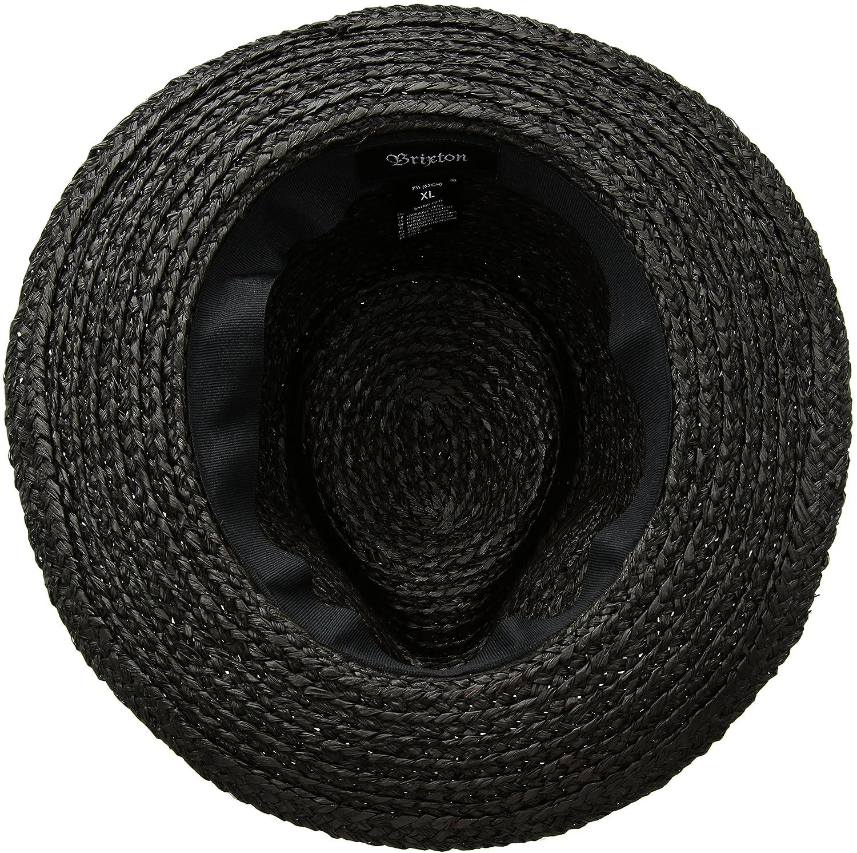 6fce2be0cf8 Amazon.com  Brixton Men s Crosby Medium Brim Straw Fedora Hat  Clothing