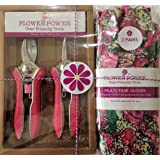 2 Pairs Ladies Gardening Gloves (Rose Garden Floral) and Mini Pruner Garden Secateurs Set. Bypass and Trimmer ladies garden shears with Lightweight gloves suitable for garden and household tasks.The Best womens Gardening Gift. On Sale Buy NOW!