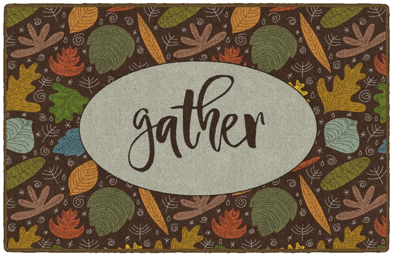 Brumlow Mills EW10126-20x34 Autumn Gather Seasonal Kitchen and Entryway Fall Rug 18 x 210