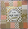 Shoppes on the Square 12x12 Cardstock Scrapbooking Paper Pad, Gold Foil, Embossed