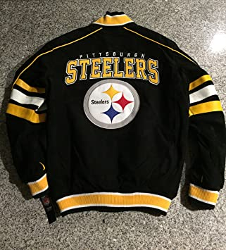 the latest d72c5 8d606 Pittsburgh Steelers Suede Leather Jacket Varsity Style NFL Coat