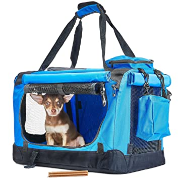 4d0e85ac6b Andrew James Pet Carrier for Cats Small Dogs & Rabbits - Top and Side  Opening Foldable. Roll over image to zoom in