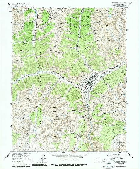 Amazon Com Yellowmaps Silverton Co Topo Map 1 24000 Scale 7 5 X