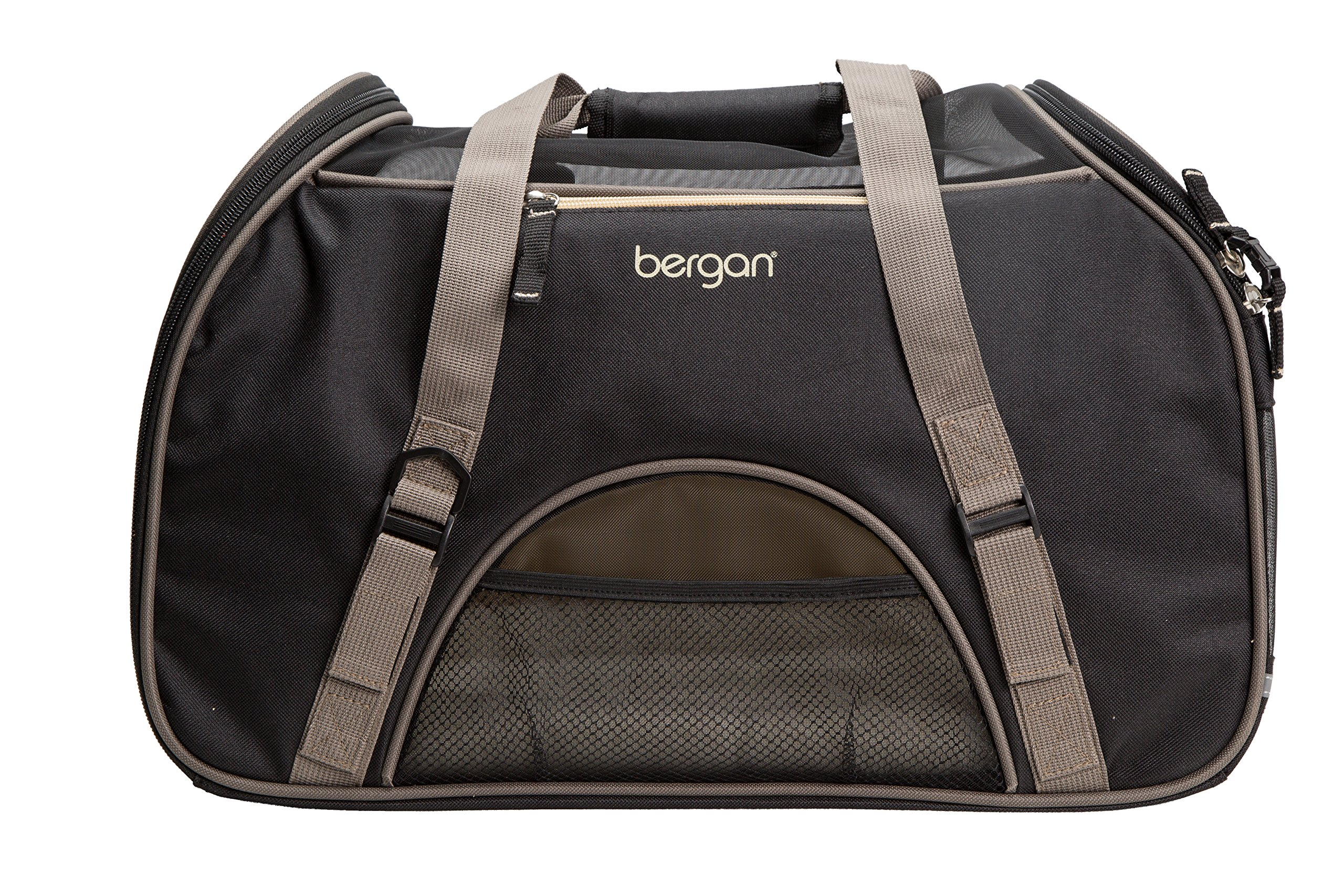 Bergan Comfort Carrier for Pets, Brown and Black, Large 19''L x 10''W x 13''H by Bergan