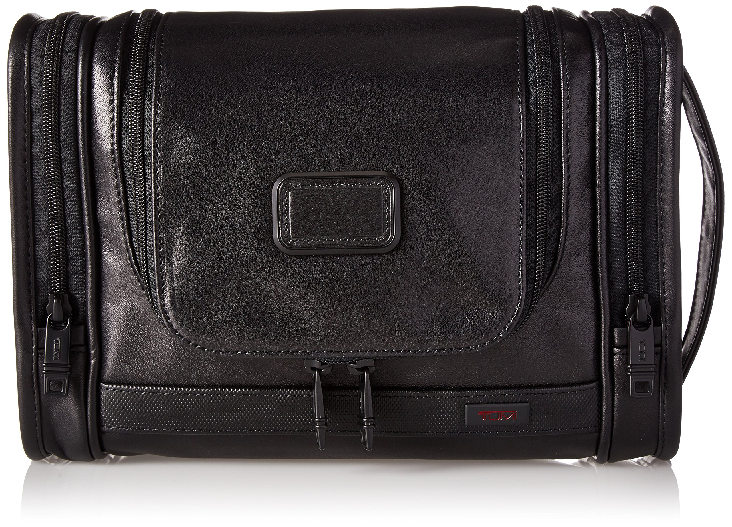 Tumi Alpha 2 Hanging Leather Travel Kit, Black, One Size by Tumi