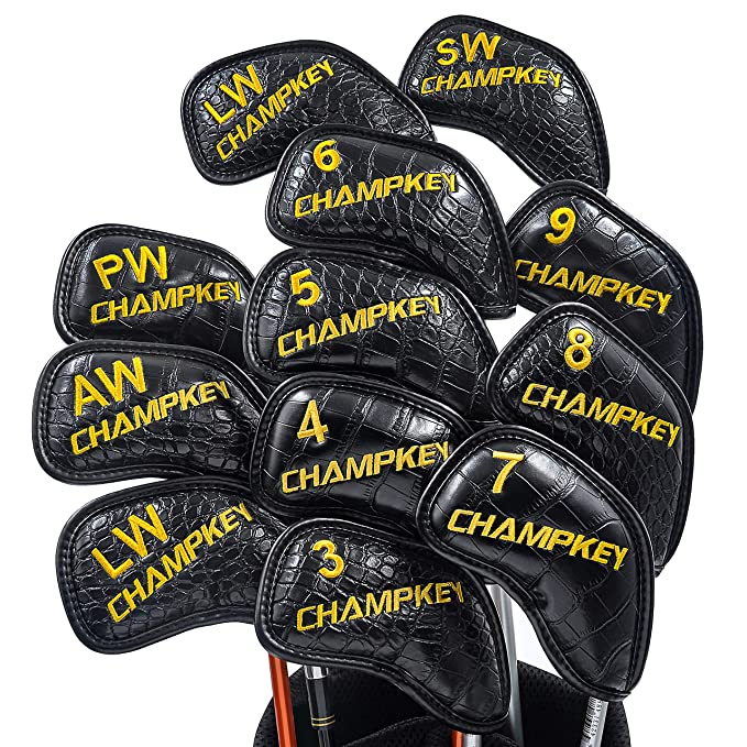 Amazon.com : Champkey Monster Golf Iron Head Cover Pack of 12pcs Ideal for Titleist, Callaway, Ping, Taylormade, Cobra Etc(Crocodile(Black)) : Sports & ...