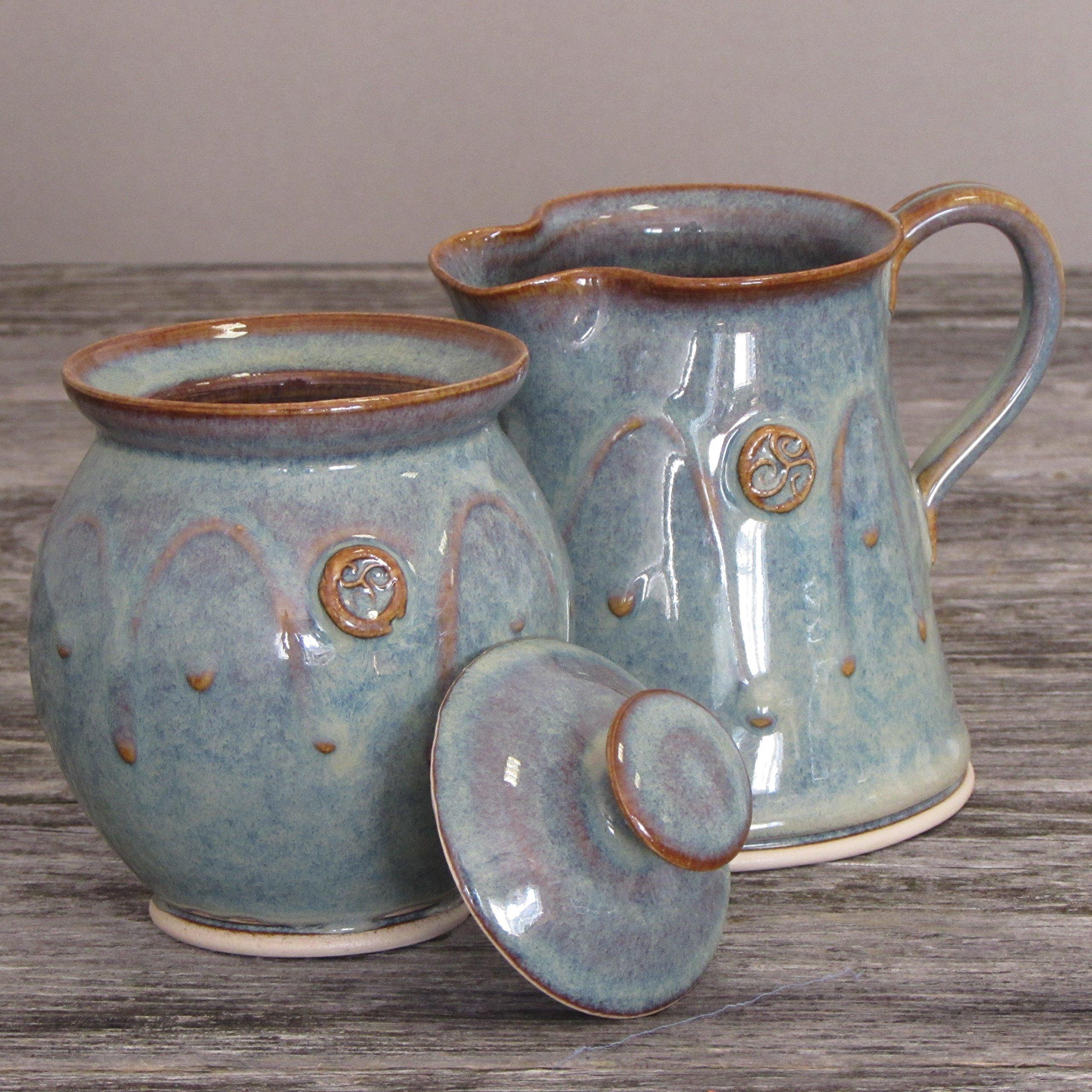 Handmade Irish Pottery Sugar and Creamer Set by Castle Arch Pottery Ireland (Image #2)