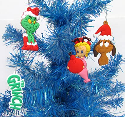 amazoncom dr seuss the grinch who stole christmas set of christmas ornaments featuring grinch and friends toys games