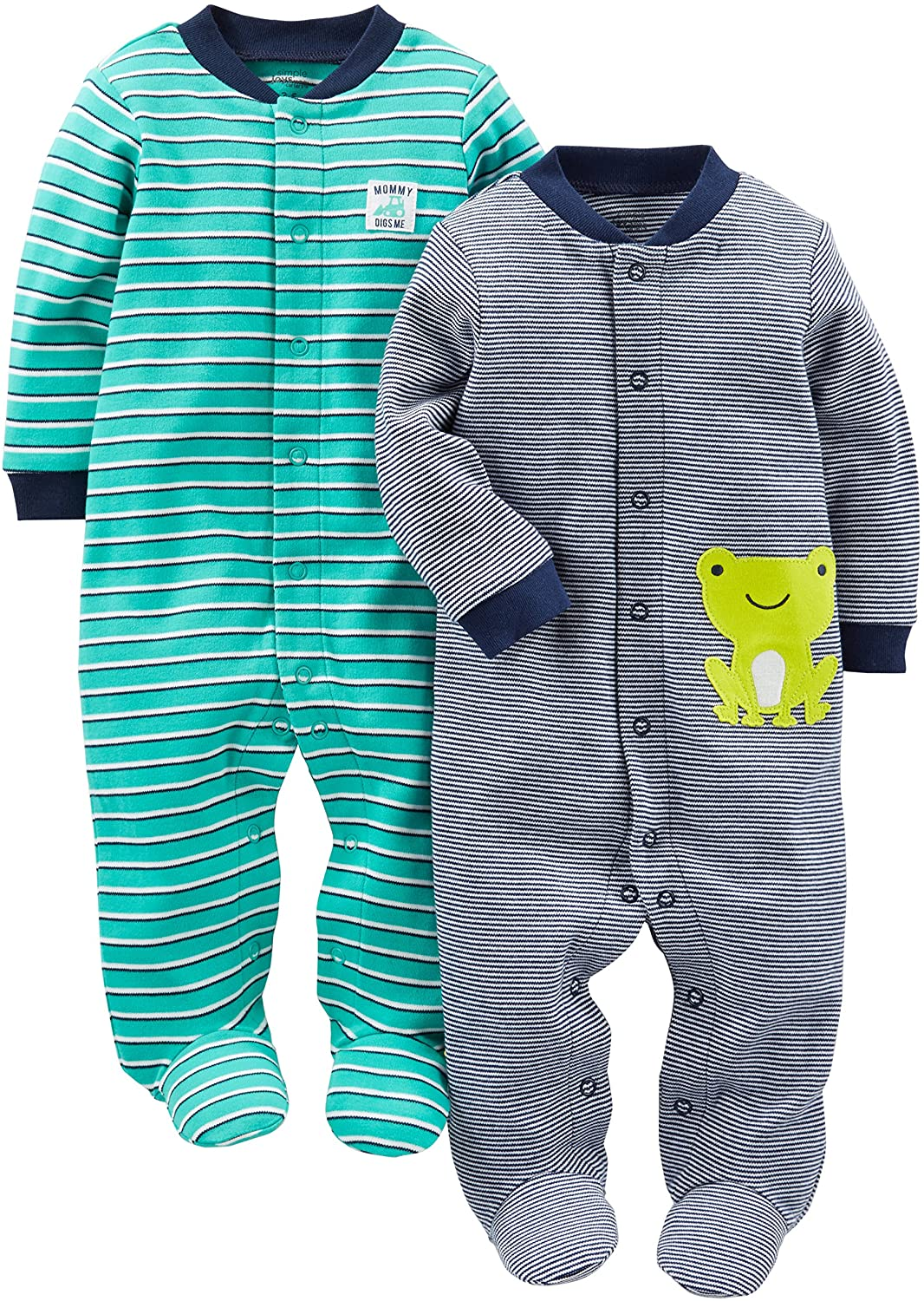 Simple Joys by Carter's Baby Boys' 2-Pack Cotton Snap Footed Sleep and Play: Clothing