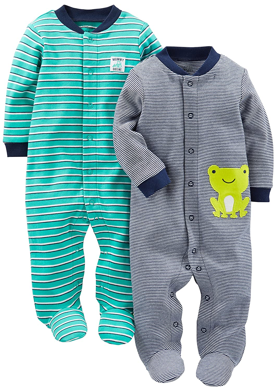 Simple Joys by Carters Baby Boys 2-Pack Cotton Footed Sleep and Play