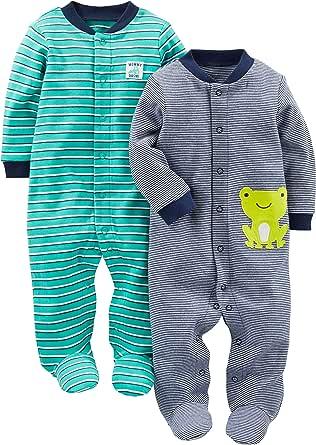 Simple Joys by Carter's Algodón para Dormir y Jugar Bebé-Niños, Pack de 2