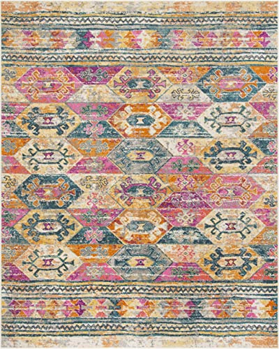 Safavieh Madison Collection MAD118C Moroccan Boho Distressed Non-Shedding Stain Resistant Living Room Bedroom Area Rug
