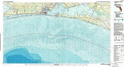 Map Of Fort Walton Beach Florida.Amazon Com Yellowmaps Fort Walton Beach Fl Topo Map 1 100000