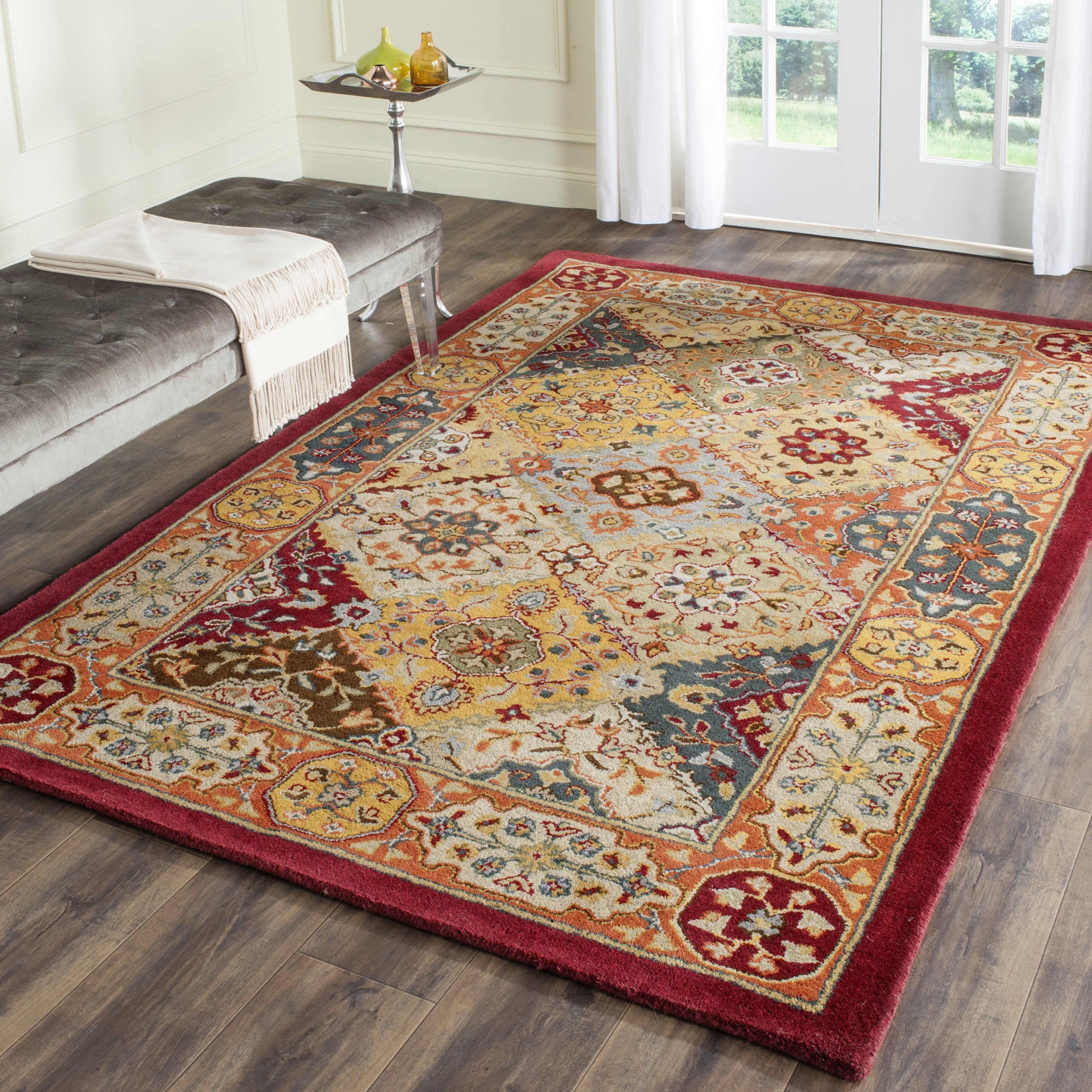 Safavieh Heritage Collection HG512A Handcrafted Traditional Oriental Multicolored Wool Area Rug (9' x 12')