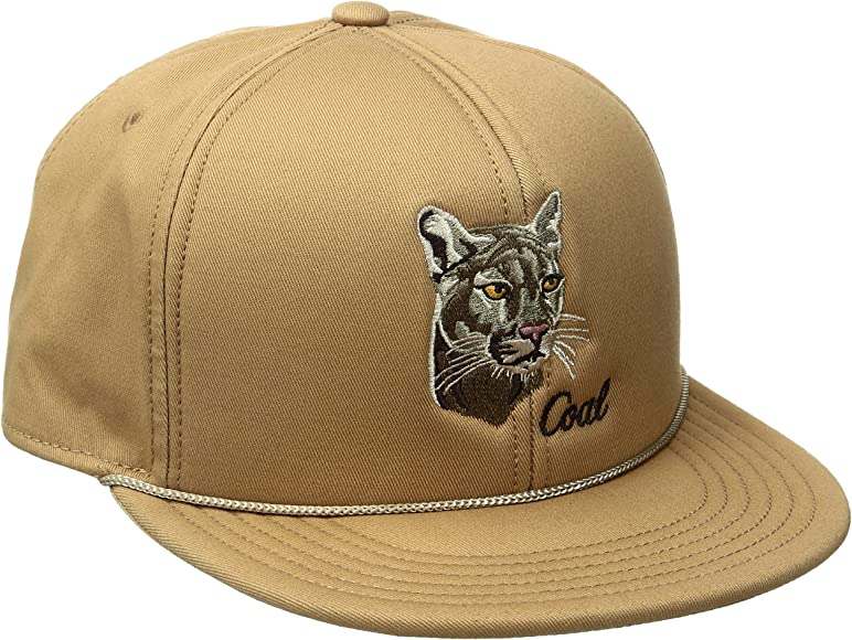 be810d66 Coal Men's The Wilderness Hat Adjustable Snapback Cap, Brown/Mountain Lion,  One Size