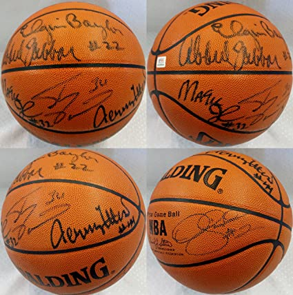 258f2a09e0e Image Unavailable. Image not available for. Color  Los Angeles Lakers  Greats Kareem Abdul-Jabbar Jerry West ...