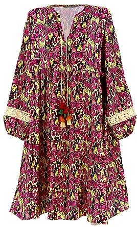 b38cdcccf07742 Charleselie94® - Robe Grande Taille bohème Ethnique Dentelle Rose ...