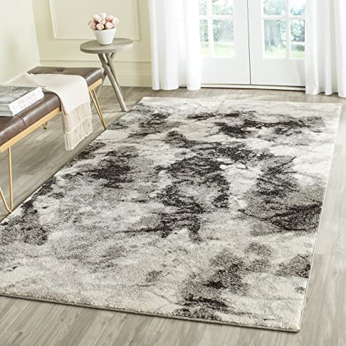 Safavieh Retro Collection RET2141-1180 Modern Abstract Cream and Grey Area Rug 8 x 10
