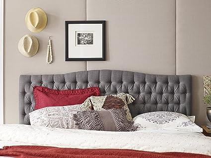 Elle Decor King Tufted Headboard In Gray