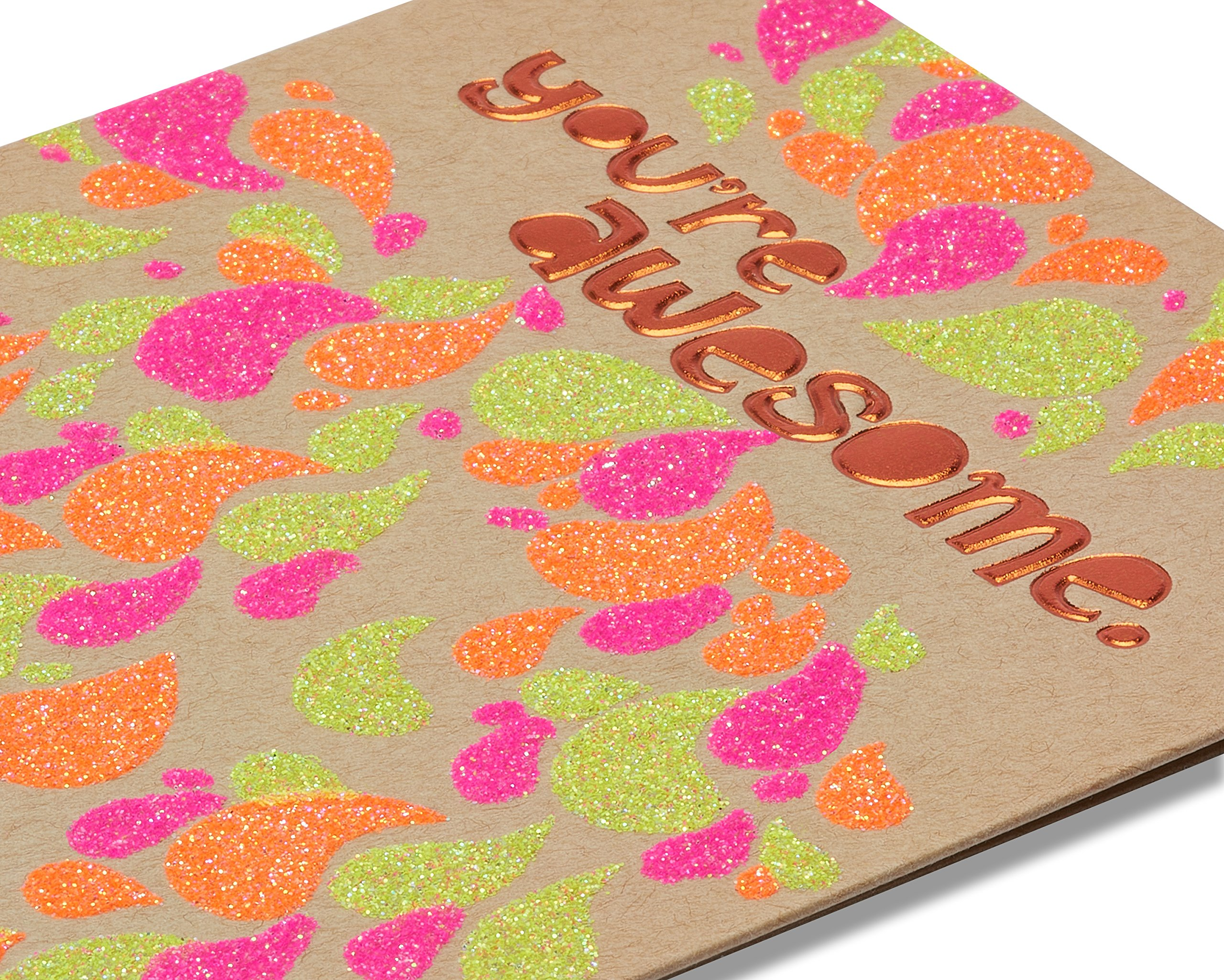 American Greetings You're Awesome Birthday Card with Glitter - 5856772 by American Greetings (Image #4)
