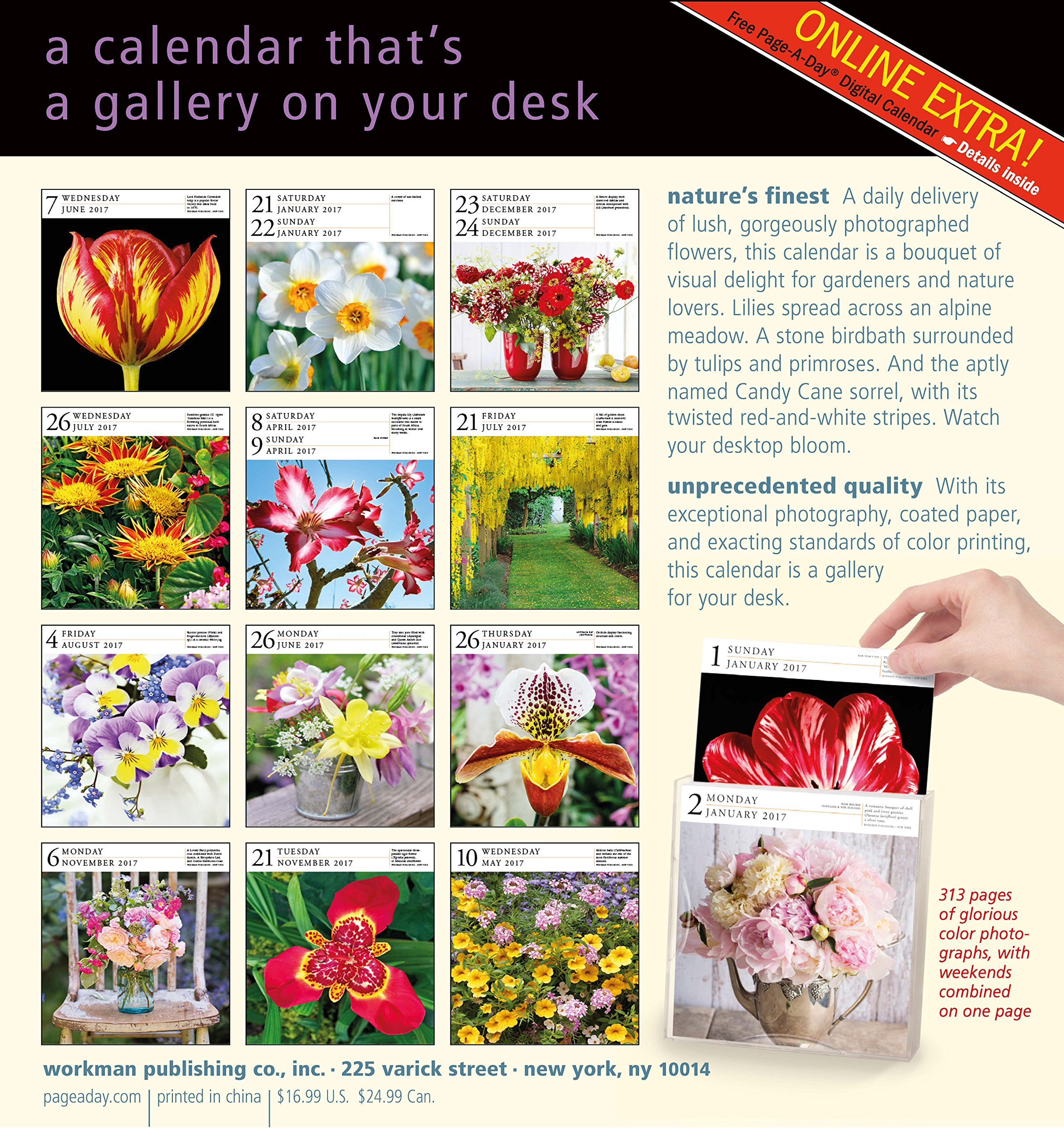 Flowers Page A Day Gallery Calendar 2017 Workman Publishing
