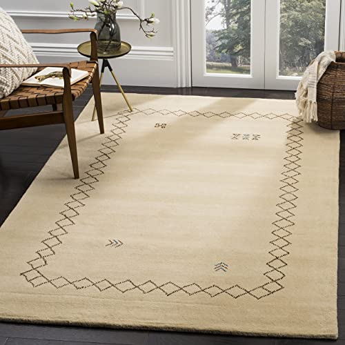 Safavieh Himalaya Collection HIM589A Beige and Multi Wool Area Rug 8 x 10