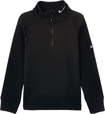 Odlo Originals Warm - Camiseta térmica para niña o niño (Manga Larga, Cuello Alto, con Cremallera): Amazon.es: Ropa y accesorios
