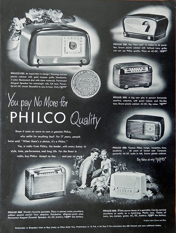 Amazon com : Philco Radios  40's Print ad  Full Page Color