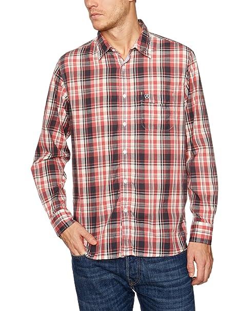 REPLAY - Camisa a cuadros de manga larga para hombre a88f02f76a4f9