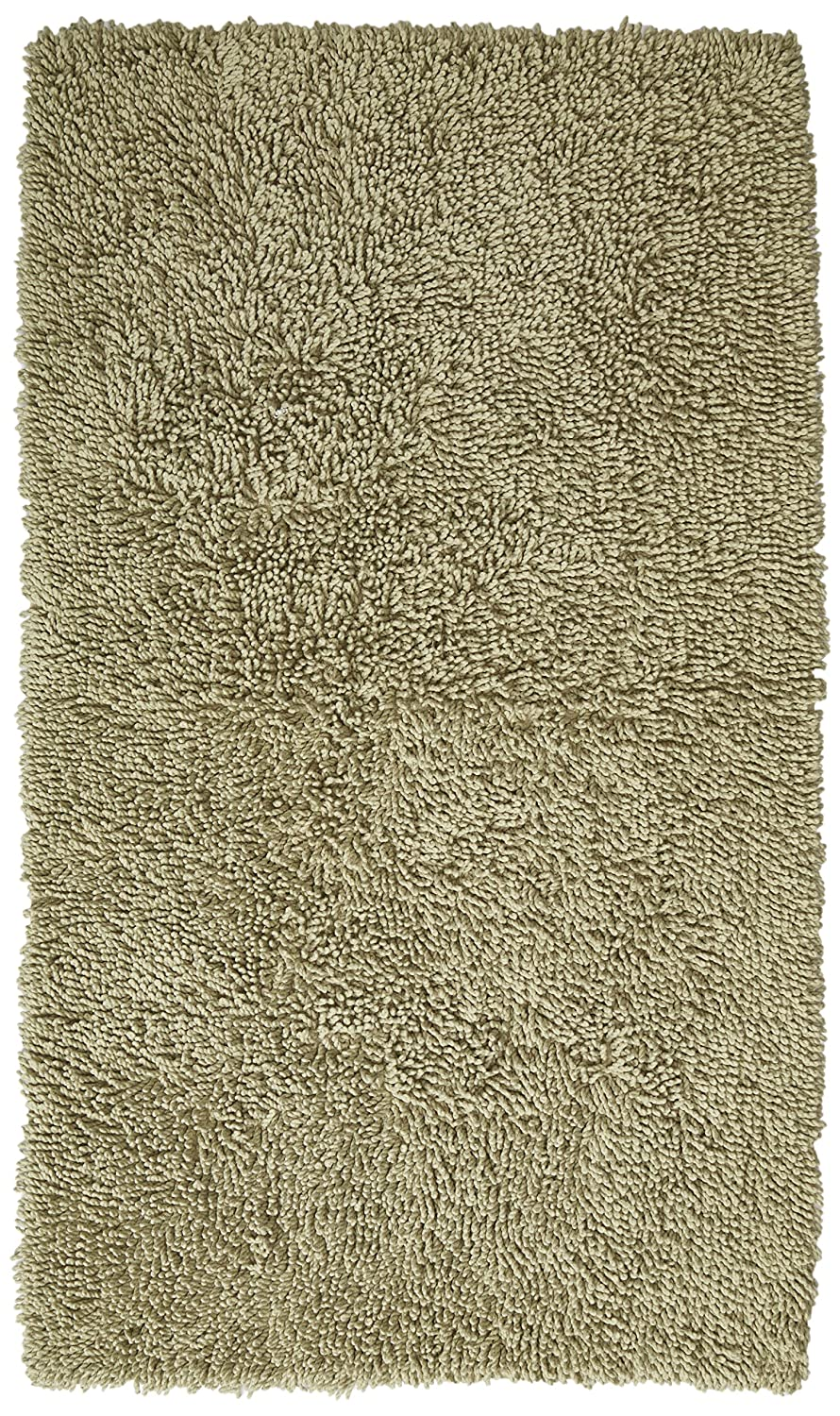 Pinzon 100% Cotton Looped Bath Rug with Non-Slip Backing - 21 x 34 inch, Ivory PINLUX-LOOP-21X34RUG-IVY