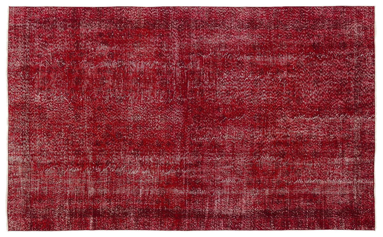 Bespoky ビンテージ 手織 ラグ 赤 大きいサイズ 178 X 291 Cm   B07HNDHXT2