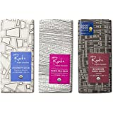 Raaka Best Sellers Trio (1.8oz Bars - 3 Pack), Organic, Kosher Craft Artisan Chocolate, Vegan, Gluten and Soy Free, Gourmet, Bean-to-Bar Dark Chocolate - Great Gift for Chocolate Lovers