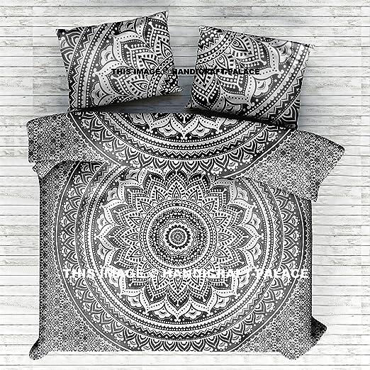 African Mandala Quilt Doona Cover Reversible Indian Bedding Blanket Duvet Covers
