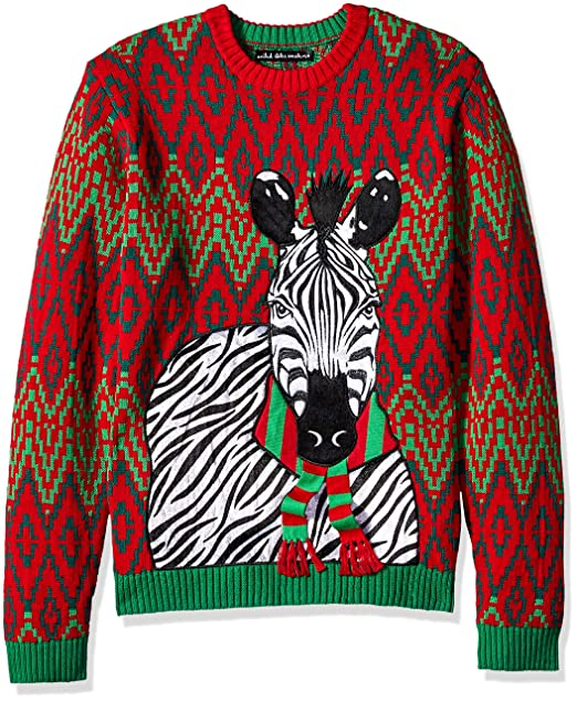 Blizzard Bay Mens Standard Zebra Scarf Ugly Christmas Sweater  Amazon.ca   Clothing   Accessories 4ea4d5137