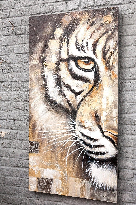 De pintura al óleo sobre lienzo tigre 70 x 140 cm: Amazon.es: Hogar