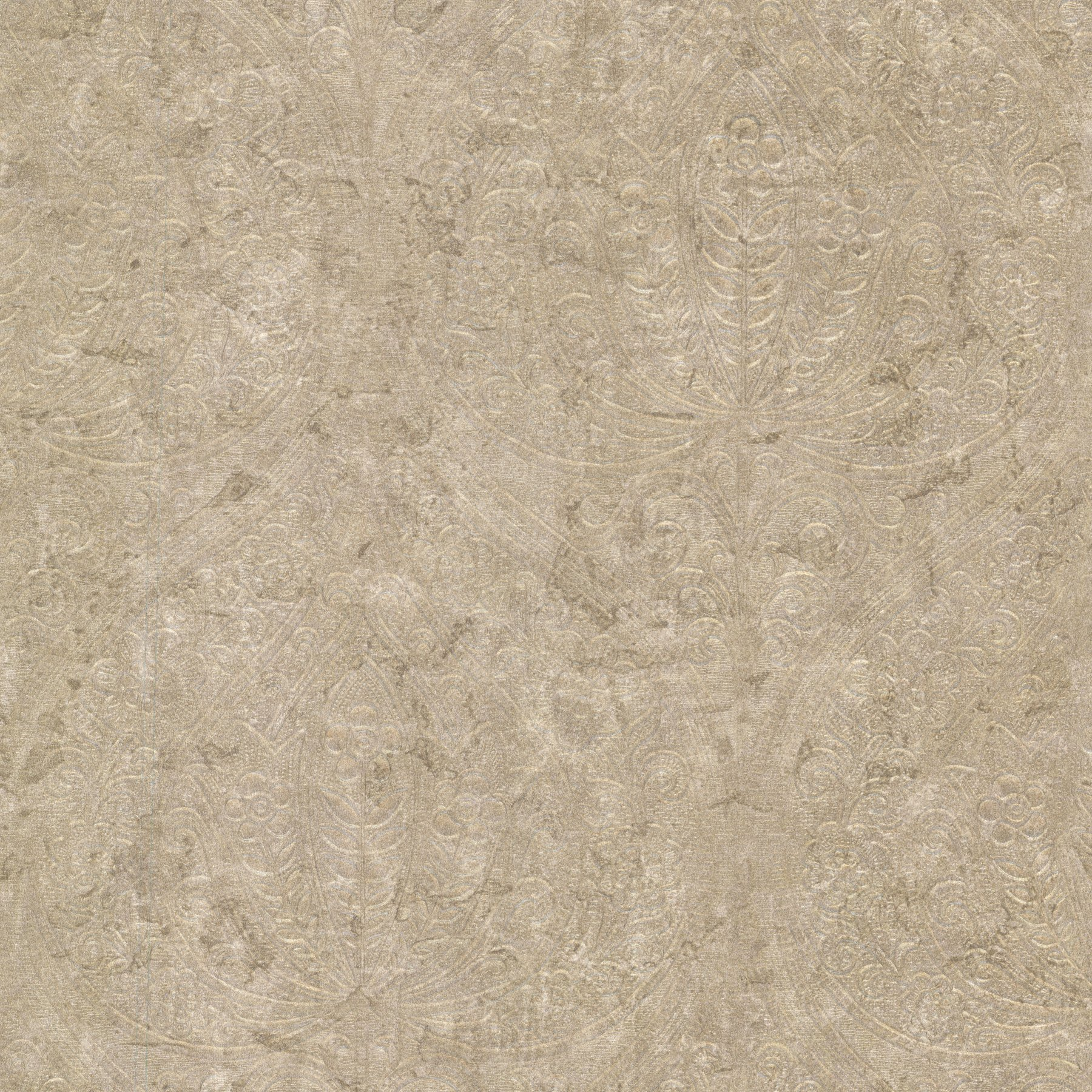 Kenneth James 672-20090 Paolina Embossed Damask Wallpaper, Large, Bronze by Kenneth James