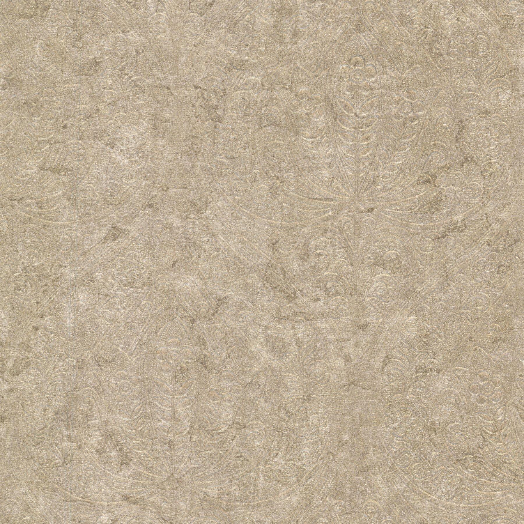 Kenneth James 672-20090 Paolina Embossed Damask Wallpaper, Large, Bronze