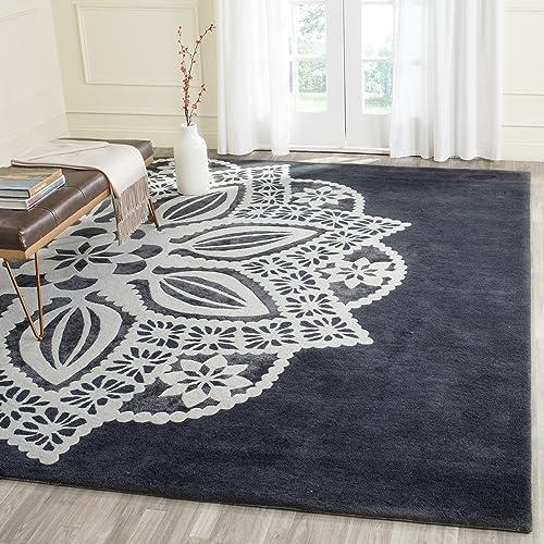 Safavieh Allure Collection ALR122B Handmade Grey and Ivory Premium Wool Area Rug 8 x 10