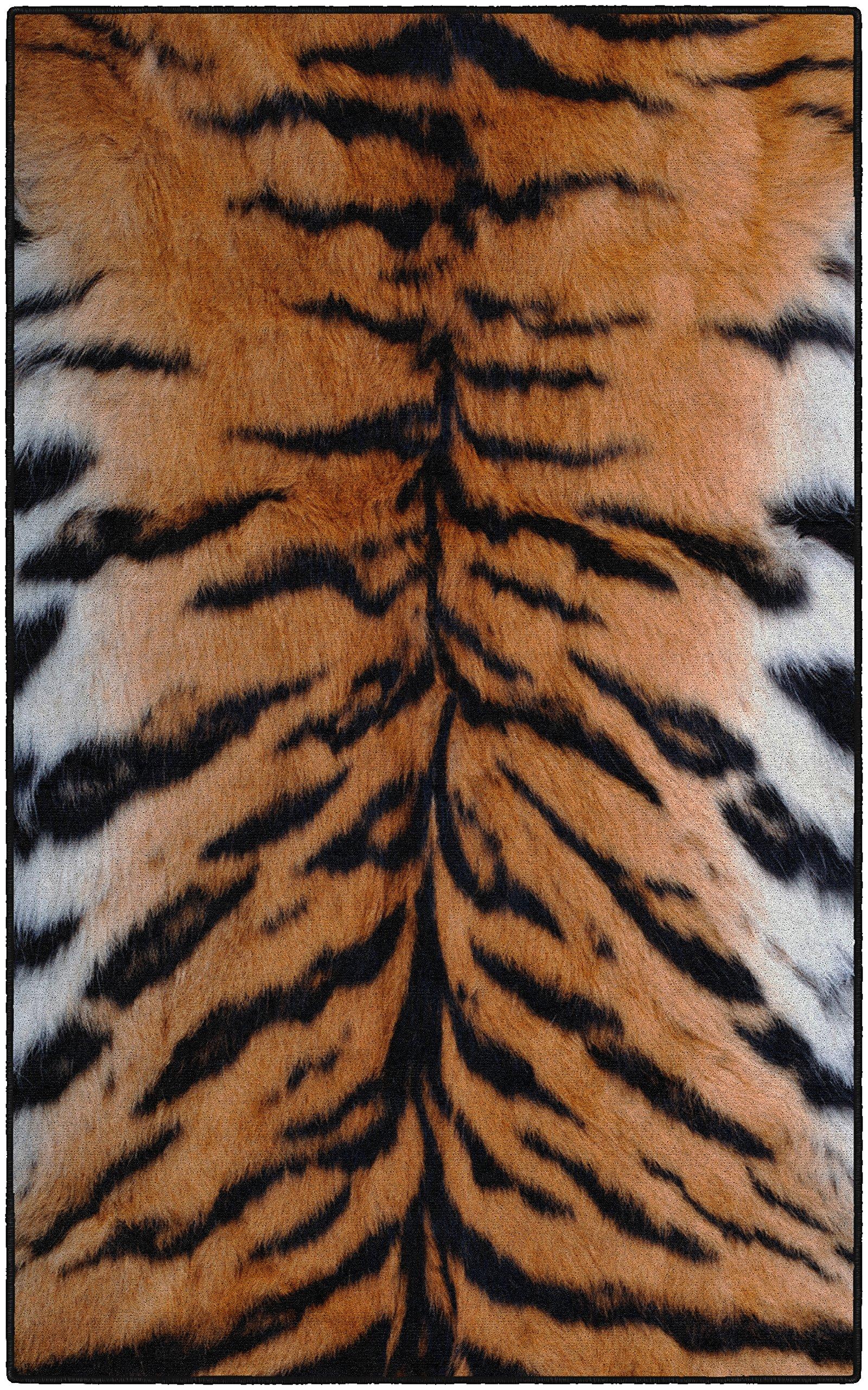 Brumlow Mills EW10211-40x60 Tiger Stripes Animal Print Area Rug, 3'4 x 5'