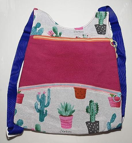 Bolso mochila Cactus in love, hecho a mano by El mundo de ...